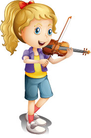 cartoon-of-a-girl-playing-violin